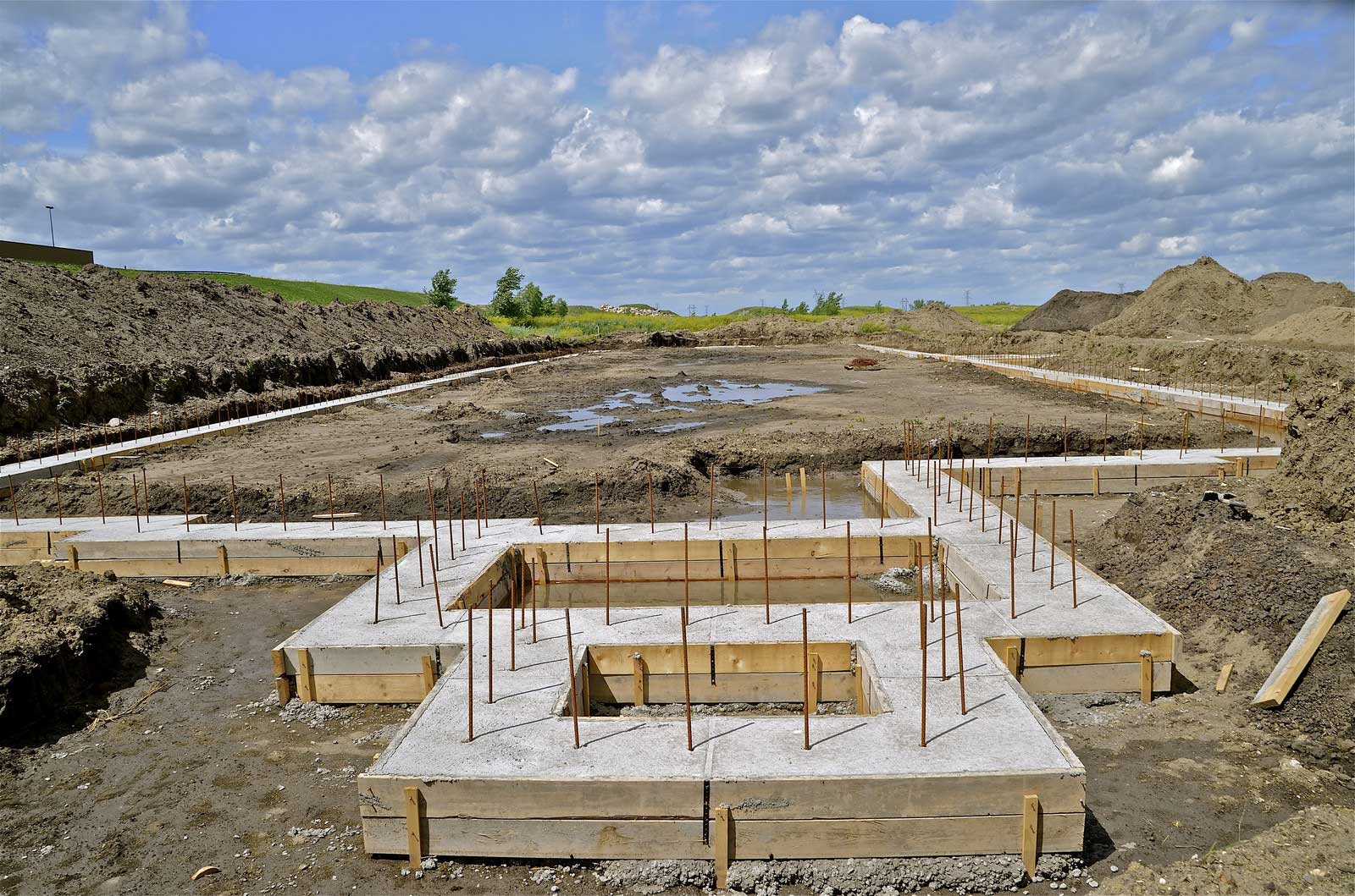 slab foundation construction - 850×563